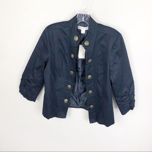 Christopher& Banks Blazer Military Style Navy Blue